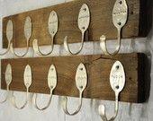 2 Personalized Spoon Hook Racks by jjevensen on Etsy. $100.00, via Etsy.