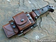 Leather Sheath | PRS Deluxe Scout Sheath | Becker Campanion BK2 | Sagewood Gear | $140