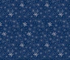 Snowflakes fabric by alexsan on Spoonflower - custom fabric