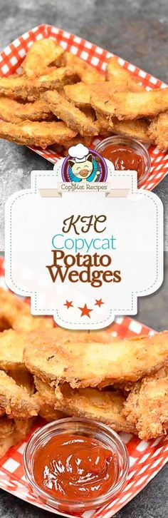 Recreate the KFC Potato Wedges at home with this easy copycat recipe. These taste just like the famous KFC potato wedges. Recreate the KFC potato wedges at home. Other Recipes, Side Dish Recipes, Side Dishes, Kfc Potato Wedges, Making Fried Chicken, Baked Chicken, Copykat Recipes, Potato Dishes, Potato Recipes