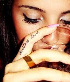 Endless love finger tattoo, love it