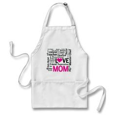 Mom is LOVE - and She's a Master Chef Too! Apron