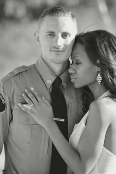Engagement pictures . Thin blue line. Las Vegas photo shoot . Supportive future police wife.