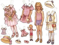 Paper Doll by THERESA BORELLI for Martha Pullen Company. These are from calendars and are digest versions of sets that originally appeared in Sew Beautiful and Fancywork magazines. Old Paper, Paper Art, Paper Crafts, Paper Dolls Printable, Vintage Paper Dolls, Baby Art, Art Wall Kids, Kids And Parenting, Hobbit