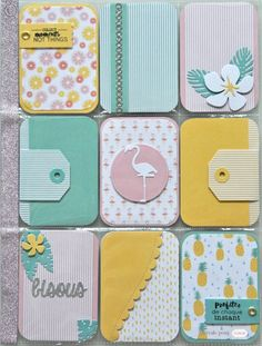 Planners on both sides are cute Project Life Organization, Project Life Planner, Project Life Scrapbook, Project Life Cards, Project Life Storage, Project Life Layouts, Scrapbook Albums, Scrapbook Cards, Smash Book