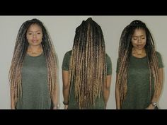 The MOST Realistic Faux Dreads | Super Light, Quick Install & Reusable - YouTube