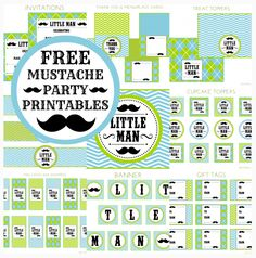 Free Mustache Printables + Extras!