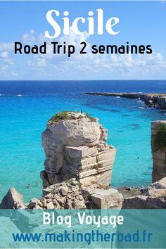 Découvrez mon road trip en Sicile. Voici 2 semaines de vacances avec un itinéraire détaillé dans le Sud, avec de belles plages, de sublimes paysages et des villes incontournables. #italie #sicile #roadtrip Road Trip Destinations, Excursion, Voyage Europe, Destination Voyage, Blog Voyage, Snorkeling, Voici, Camping, Water