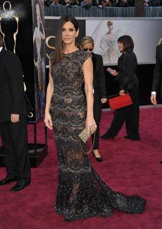 Sandra Bullock in Elie Saab, Oscar 2013 85th Academy Awards Best Dressed — See Gorgeous Oscars Gowns - Hollywood Life