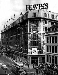 Department Stores of Scotland: Lewis's, Argyle Street, Glasgow. Scotland History, Glasgow Scotland, Edinburgh, Scotland Travel, Leeds City, Glasgow City, Liverpool History, Liverpool Home, Birmingham City Centre