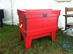 Red Vintage Tool Chest