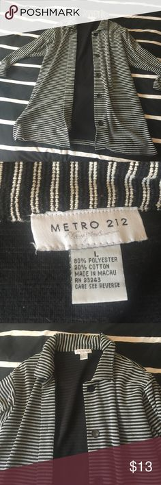 Stripe over shirt Super cute ! metro 212 Tops Tees - Long Sleeve