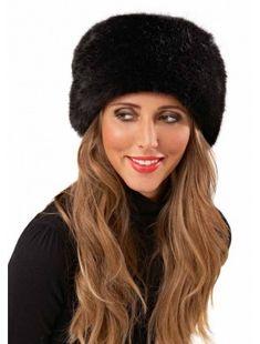 Midnight Blue Luxury Faux Fur Cossack Hat