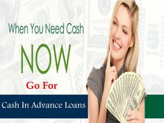Cash in advance loans are one of the perfect option for the borrowers to arrange…
