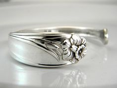 Silver Cuff Spoon Bracelet....  one of these days I'm going to find some beautiful antique silverware and make one of these.
