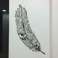 tatuagem de pena desenho - Pesquisa Google