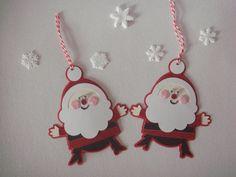 Santa gift tag/ ornament Cricut by CraftyClippingsbyPeg