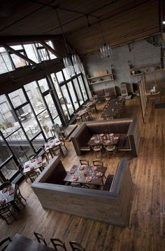 Sugoi desu ne!!  I've always wanted a cafe/diner business someday. Sooooo beautiful! Have you even been inlove c a place Reminds me of the cafe from Stolen movie c the floor-to-ceiling windows 13 Stylish Restaurant Interior Design Ideas Around The World.