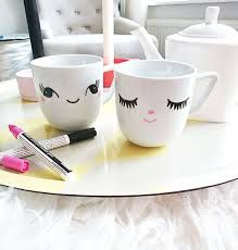 Sharpie, Homemade Gifts, Diys, Tea Cups, Crafty, Tableware, Cute, Blog, Painting