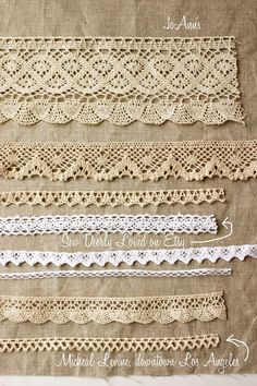 Image result for simple bobbin lace edgings