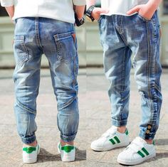 Boys Jeans, Kids Moto Jeans Patchwork Kids Trousers Fashion Children Boys Jeans Kids Fashion Denim Pants Baby Casual Pants Infant years old Moto Jeans, Ripped Jeans, Types Of Jeans, Mode Top, Patchwork Jeans, Kids Fashion Boy, Baby Girl Dresses, Pullover, Casual Pants