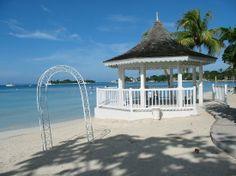Gazebo where we got married at Sandals Negril, Jamaica