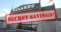 Menards (home improvement store in Midwest like Home Depot & Lowe's). Find out how to get the SECRET 11% price adjustment the week BEFORE an 11% rebate sale