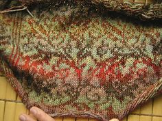 Gorgeous variation of Margaretha Finseth's Season of Darkness and Winter light cardigan