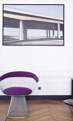 Fauteuil Design Violet Or Warren Platner Knoll Maison Alice Bizien