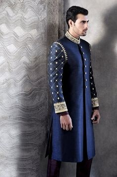 Indian Wedding Groom Sherwani Best Designs 2015 (5)