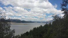 Sesquile's sunny  landscape near from Bogota