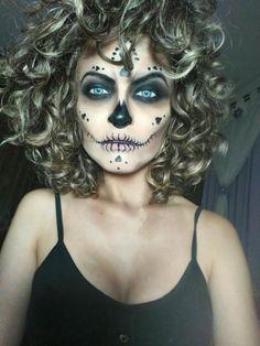 Maquiagem artística caveira mexicana