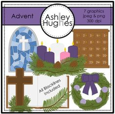 Advent {Graphics for Commercial Use} $3.00