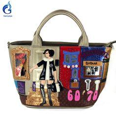Gamystye 2016 Women Handbags Messenger Bags Embroidered girl Handbags fashion Sweet 6070 bazaar Tote flowers cat PU bags