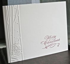 clean card...like the single row of embossing...