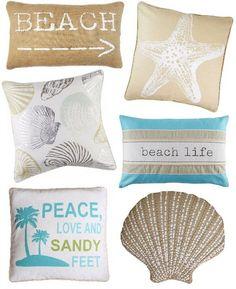 Delicious Beach Pillows Under $20... http://www.beachblissdesigns.com/2016/09/beach-pillows-under-20.html