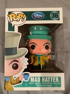 Brand new mad hatter funko pop in the box, never been opened, brand new and box in good condition except for a slight crease you can see in the last photo, been in storage. Will ship with care. Funko Pop List, Funko Pop Anime, Funk Pop, Alice In Wonderland Theme, Mad, Ship, Toys, Storage, Ideas