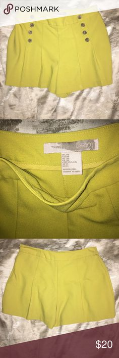 Yellow shorts with buttons Cute shorts can be dressed up or down. Not bcbg BCBGMaxAzria Shorts