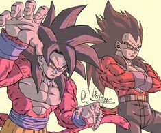 Vegeta Super Saiyan 4, Goku And Vegeta, Dragon Ball Gt, Akira, Gogeta Ss4, Dbz Drawings, Ball Drawing, Dragon Images, Anime Furry