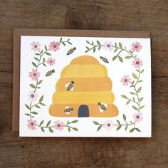 Hey, I found this really awesome Etsy listing at https://www.etsy.com/listing/124918209/farm-to-table-honey-bee-illustrated-card