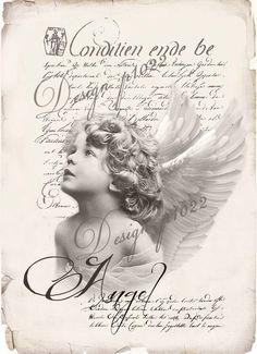 Vintage Labels Vintage angel new version digital collage Decoupage Vintage, Decoupage Paper, Vintage Paper, Vintage Art, Vintage Labels, Vintage Ephemera, Vintage Postcards, Images Vintage, Vintage Pictures