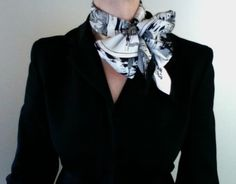 How to wear, knot or tie an Hermes scarf in a twist wrap, video tutorial on how to wear Hermes scarves