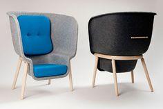 Toque macio: feltro empresta textura a móveis e objetos