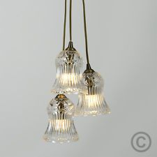 Searchlight Fisherman 1 Light Ceiling Pendant Black Gold