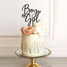 18 Cake Topper, Happy Birthday Cake Topper, Custom Cake Toppers, Mini Tortillas, Baby Girl Cakes, Cake Baby, Baby Shower Cakes Neutral, Gender Reveal, Cake Decorating