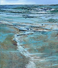 Lynn Boggess' newest fine art selection of original tactile realism are on display at Principle Gallery in Alexandria V. Knife Painting, Acrylic Painting Canvas, Acrylic Art, Painting Art, Seascape Paintings, Landscape Paintings, Virginia Occidental, Abstract Landscape, Abstract Art