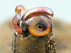Llewellyn.... lampwork owl bead... sra by DeniseAnnette on Etsy, $18.00