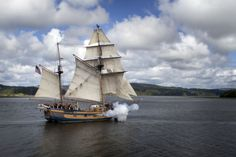Hawaiian Chieftain fires her cannon. #pirates #travel #ships http://historicalseaport.org/