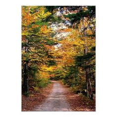 "Back Road Fall Wedding Reply Cards 3.5"" X 5"" Invitation Card"