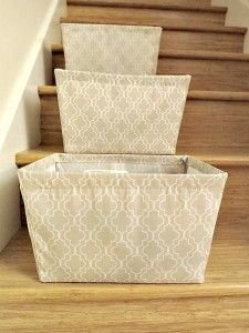 If you have more than one floor in your home, place a basket on the stairs for things going up, and one for things going down.